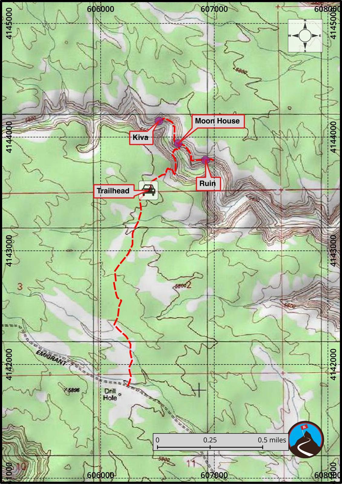Map Of Arizona Indian Ruins.Hiking Moonhouse Ruin Mccloyd Canyon Cedar Mesa Road Trip Ryan