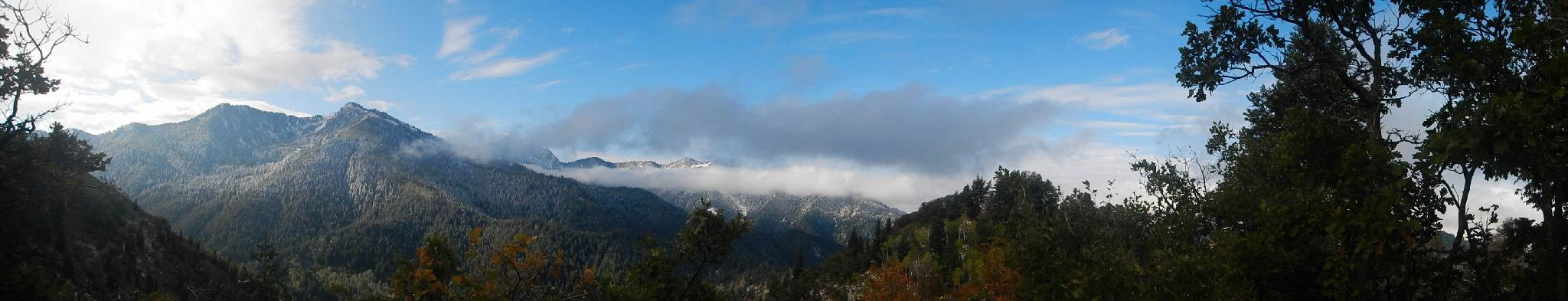 Great panorama of the peaks on the south side of Millcreek Canyon