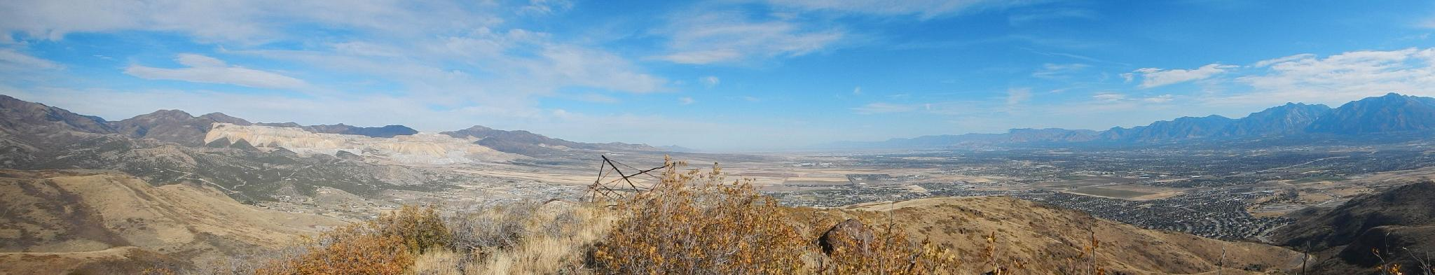 Panorama from South Mountain summit in the Traverse Mountains