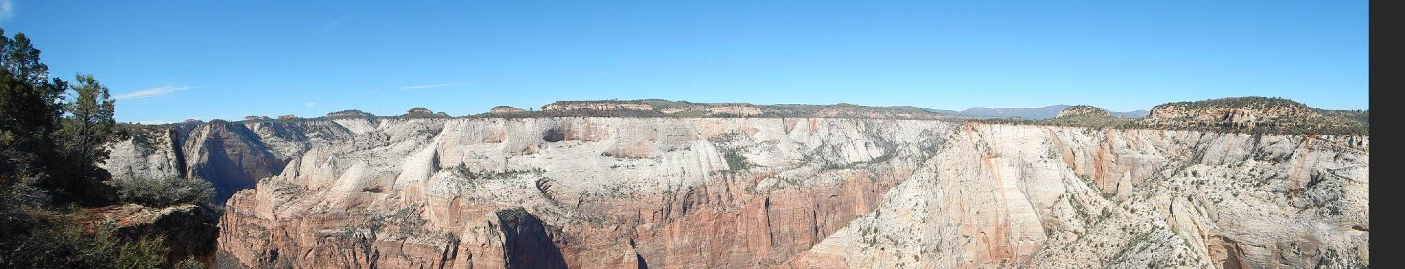 Panorama of the West Rim from Cable Mountain