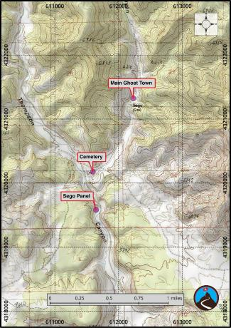 Sego Ghost Town Roadside Attraction Map