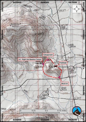 Rings Trail Hiking Map