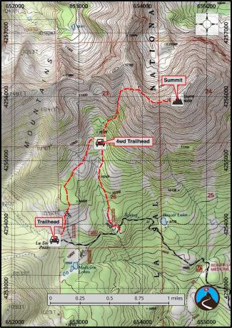 Mount Peale Hiking Map