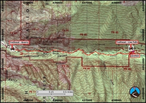 Little Cottonwood Creek Trail Hiking Map
