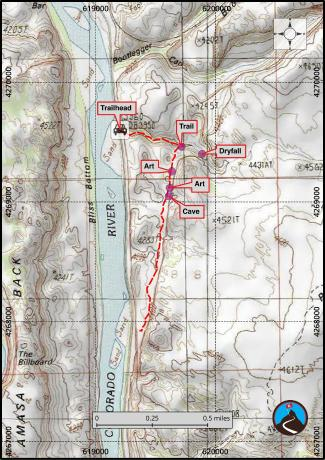 Moki Mesa Hiking Map