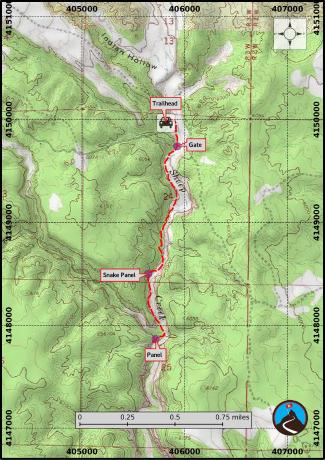 Sheep Creek Hiking Map