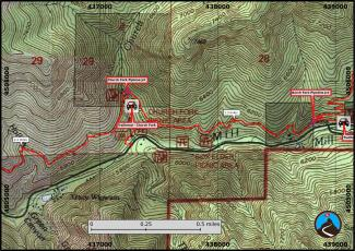 Pipeline Trail Hiking Map (2/3)