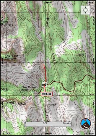 Shelf Canyon Hiking Map