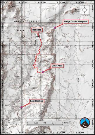 Goblin Valley Hiking Map
