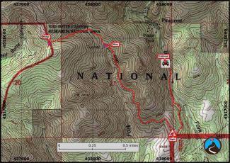 Miner's Trail Hiking Map