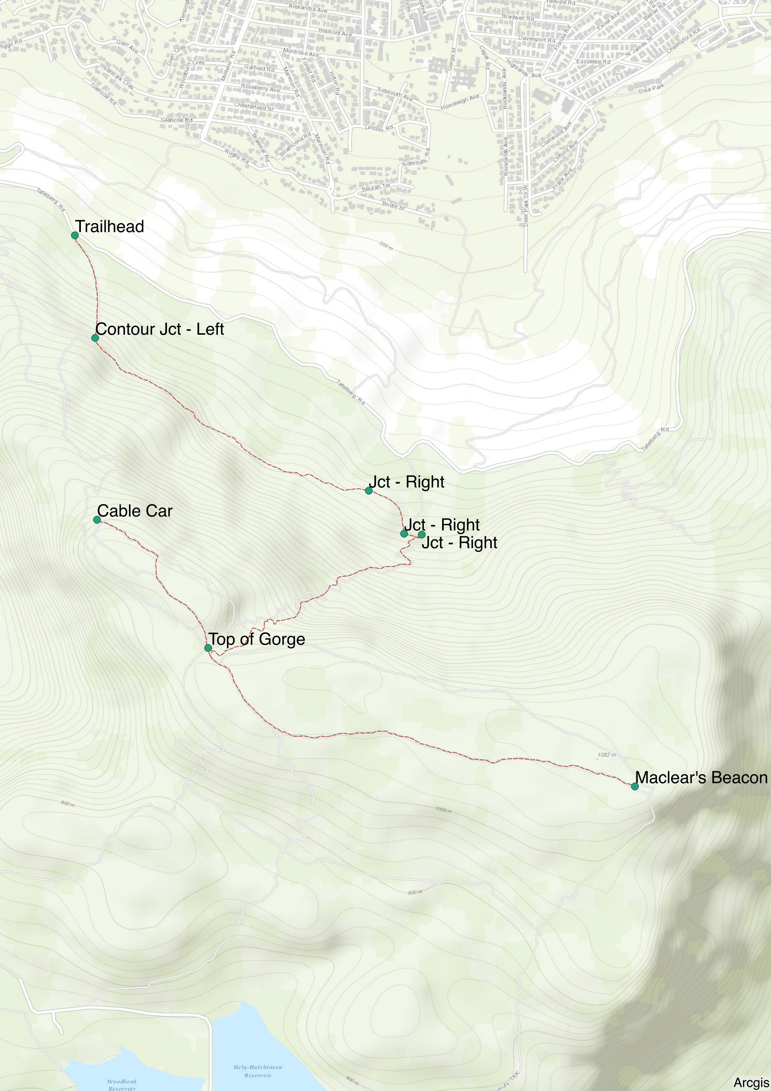 Hiking Platteklip Gorge Cape Town South Africa Road Trip Ryan Plasttekpp Map