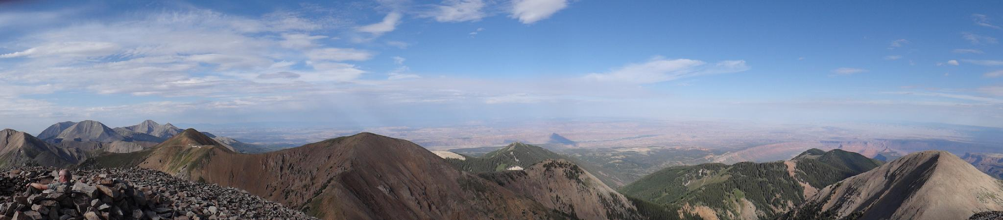 Panorama from the summit.