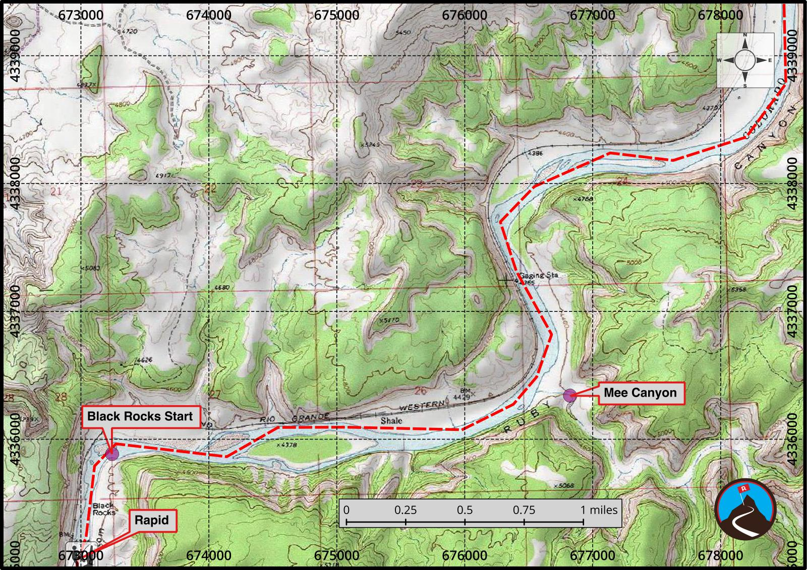Ruby and Horsethief Canyons Float Map 3