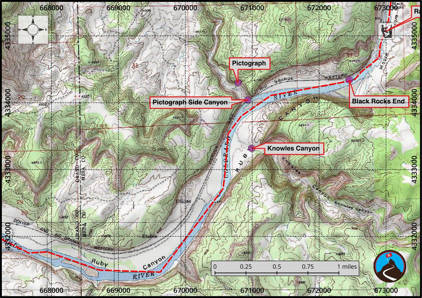 Ruby and Horsethief Canyons Float Map 4