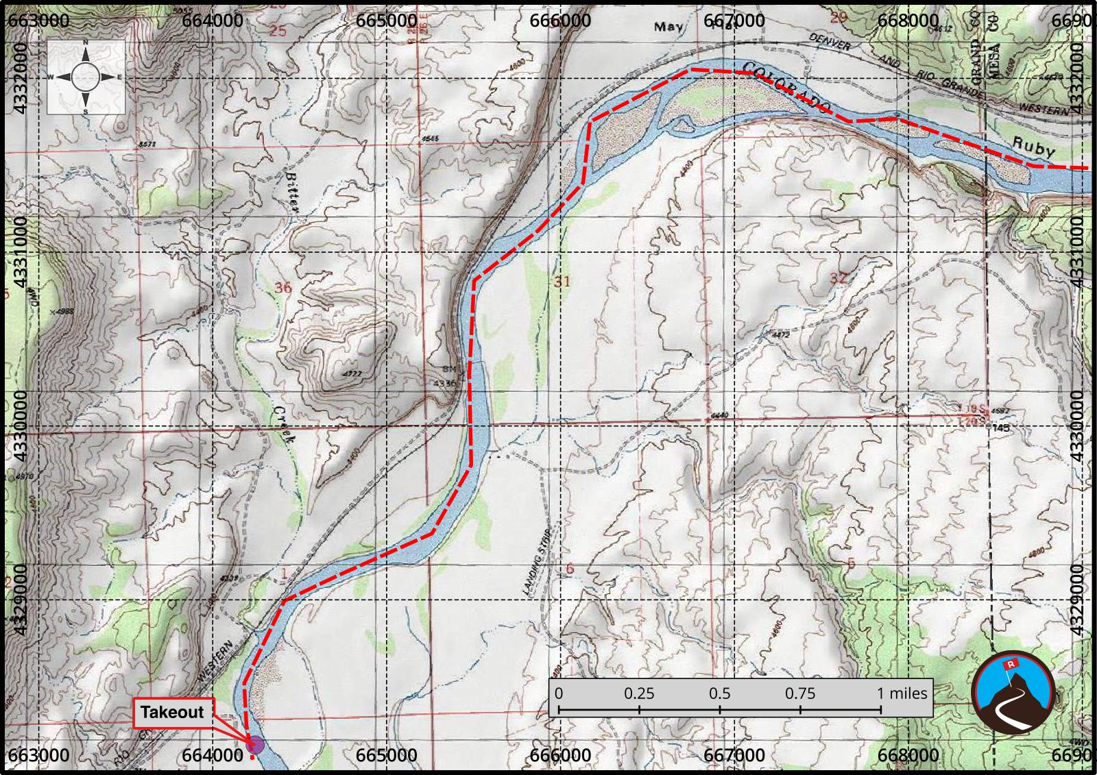 Ruby and Horsethief Canyons Float Map 5