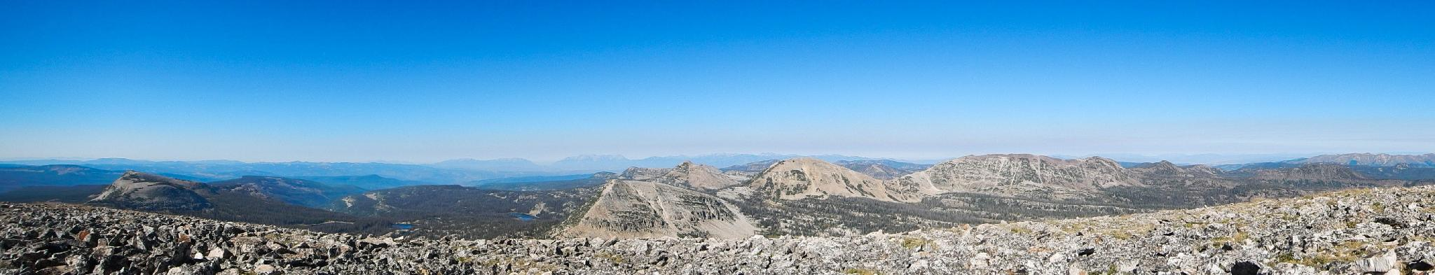 Panorama from the summit of Mount Watson