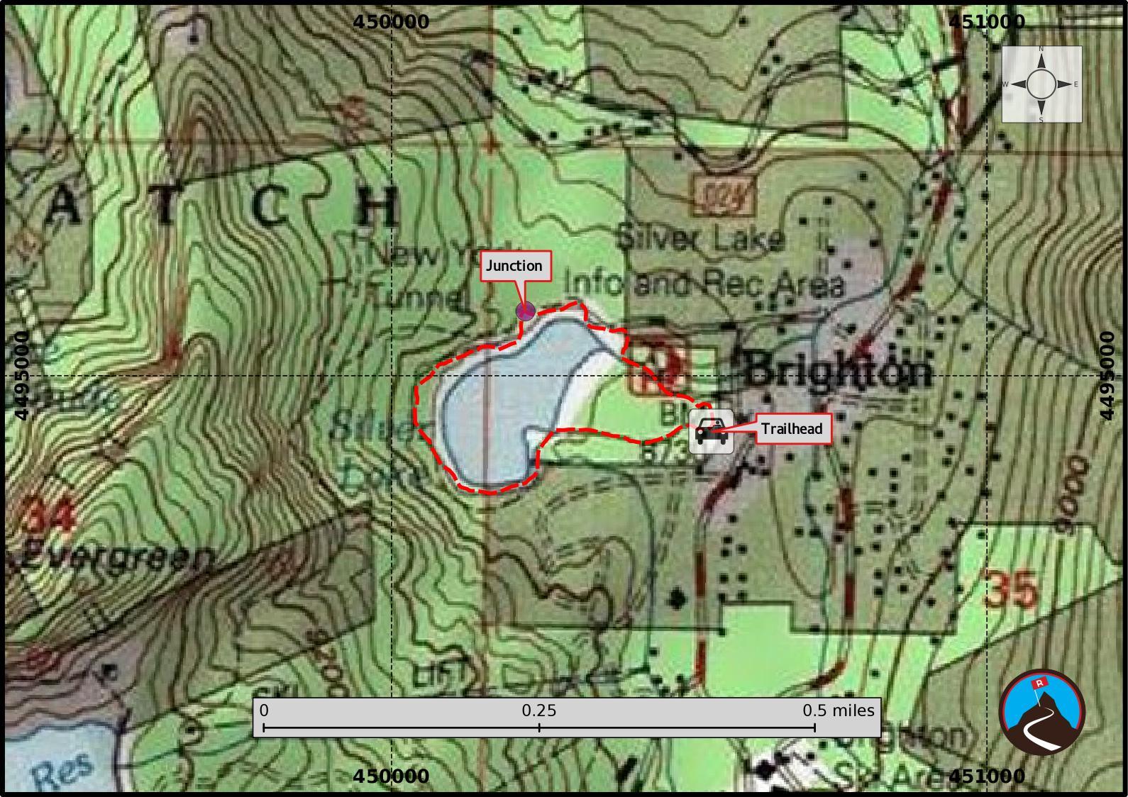 Brighton Utah Map.Hiking Silver Lake Big Cottonwood Road Trip Ryan