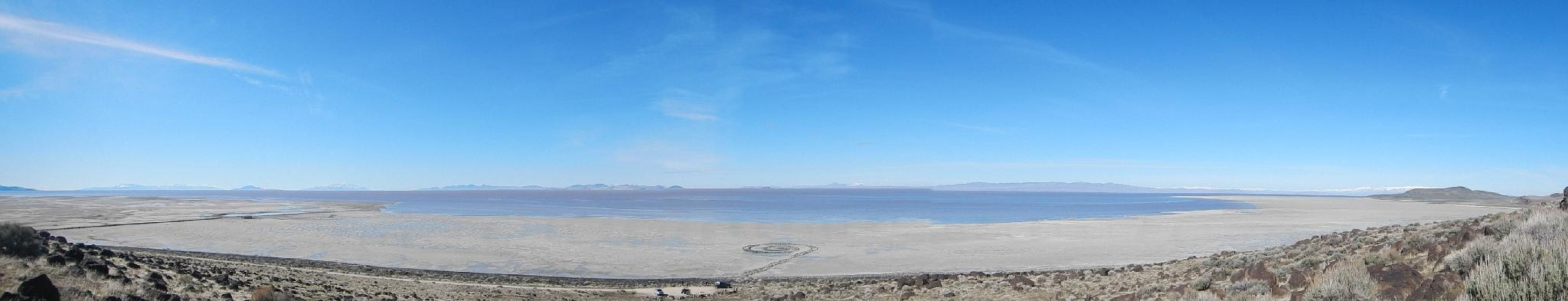 A panorama of the spiral jetty.